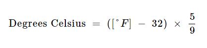 Fahrenheit to Kelvin Formula