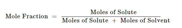 Mole Fraction Formula