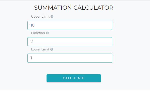 How to use Summation Calculator