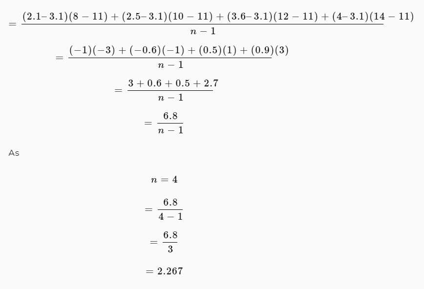 covariance equation 2