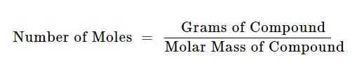 how to convert grams to moles