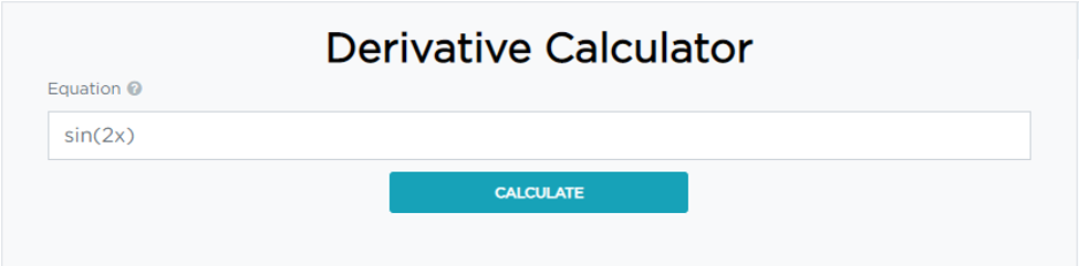 How to calculate derivative