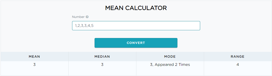Mean Calculator