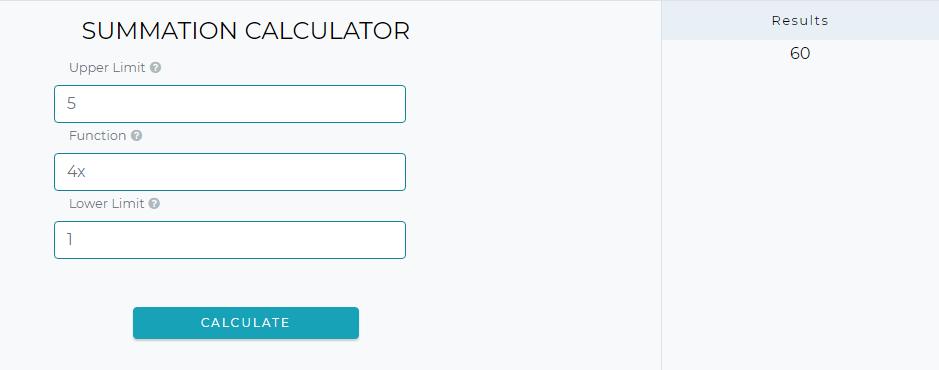 Summation Calculator